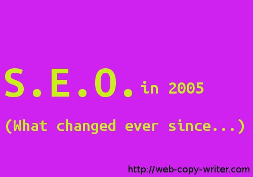 SEO Advice from 2005