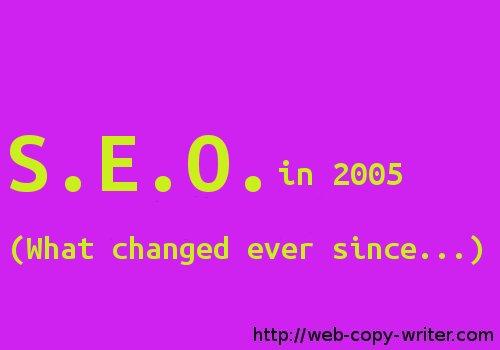 SEO Advice from 2005